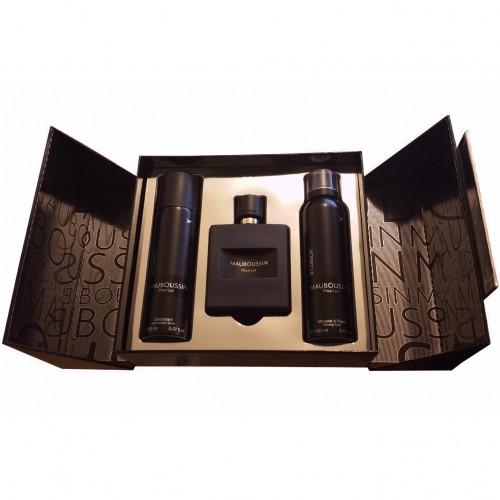 Coffret Mauboussin Pour Lui In Black Eau De Parfum 100Ml + Déodorant 150Ml + Mousse À Rasser 150Ml Hommes