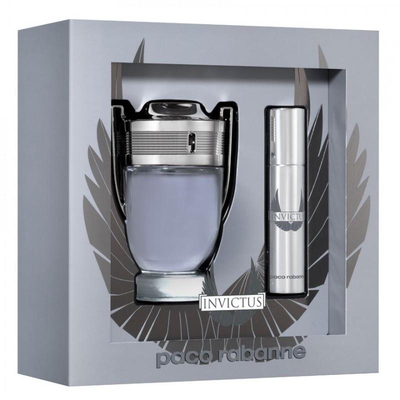 Coffret Paco Rabanne Travel Hommes Shouet 100mlSpray 10ml Invictus De Paris Toilette Eau 2WED9IH