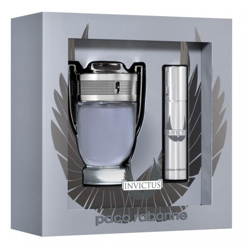 Coffret Paco Rabanne Invictus Eau De Toilette 100Ml + Spray Travel 10Ml Hommes