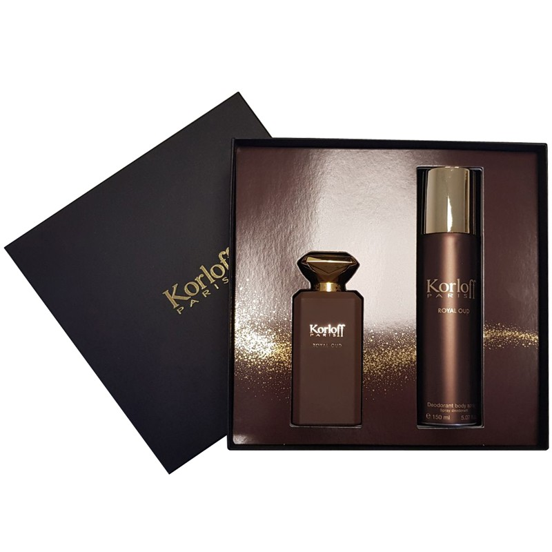 Coffret Korloff Eau de Parfum 88ml + Deodorant Spray 150ml