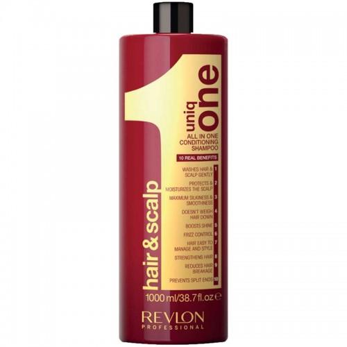 Revlon Uniq One Tout En Un Shampooing Revitalisant Pour Les Cheveux Et Le Cuir Chevelu 1000Ml Femmes