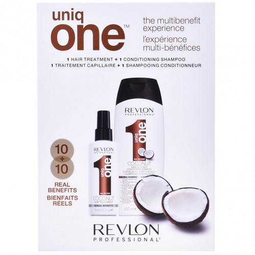Revlon Uniq One Coconut Coffret 2 Pieces Traitement 150Ml + Shampooing Conditionneur 300Ml Femmes