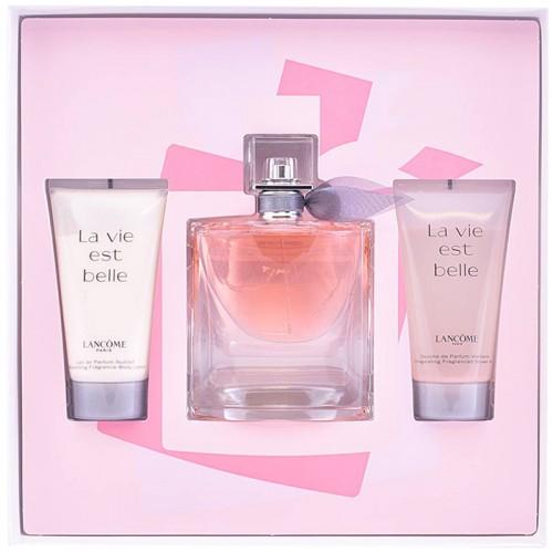 Coffret Lancome La Vie Est Belle L'Eau De Parfum 50Ml + Lait De Parfum Nutritif 50Ml + Douche De Parfum Vivifiante 50Ml Femmes