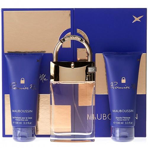 Coffret Mauboussin Promise Me Eau De Parfum 90 Ml + Douche Précieuse 100Ml + Lait Pour Le Corps 100 Ml Femmes
