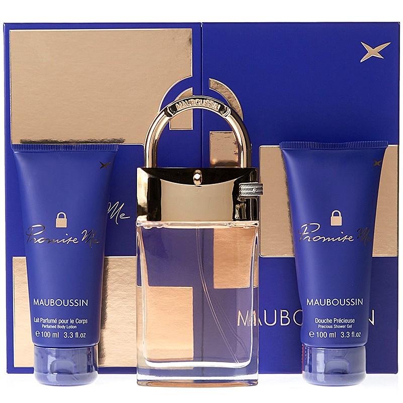 Coffret Mauboussin Promise Me Eau de parfum 90 ml + douche précieuse 100ml + lait pour le corps 100 ml