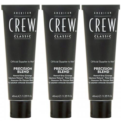 American Crew Precision Blend Cendré Moyen 5-6 40 Ml Lote 3 Pz