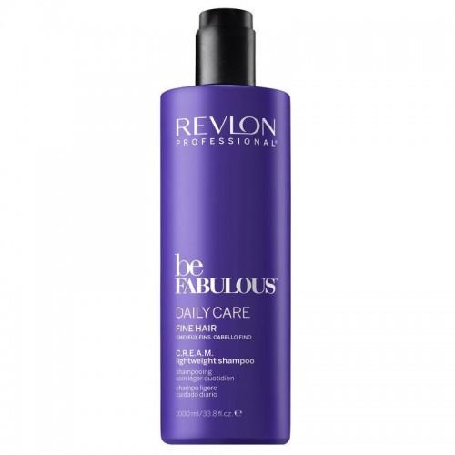 Revlon Be Fabulous Shampooing Leger C.R.E.A.M Cheveux Fins 1000Ml Femmes