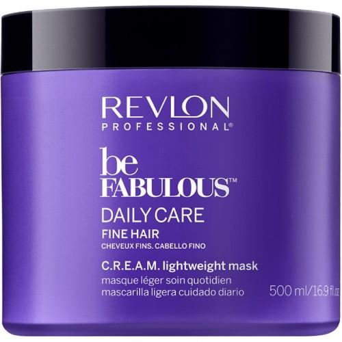 Revlon Be Fabulous Cheveux Fins C.R.E.A.M Masque Leger Quotidien 500Ml Femmes