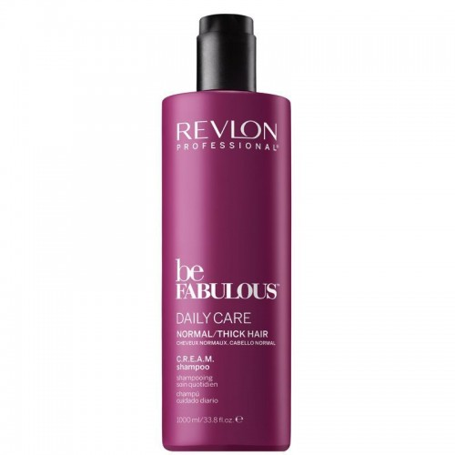 Revlon Be Fabulous Shampooing Quotidien C.R.E.A.M Cheveux Normaux 1000Ml Femmes