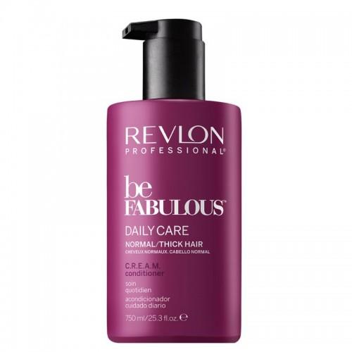 Revlon Be Fabulous Conditioner Quotidien C.R.E.A.M Cheveux Normaux 750Ml Femmes