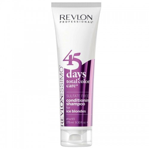 REVLON 45 DAYS SHAMPOOING CONDITIONNEUR ICE BLONDES TUBE 275ml