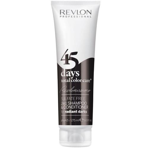 Revlon 45 Days Shampooing Conditionneur 2En1 Noirs Radieux 275Ml Femmes