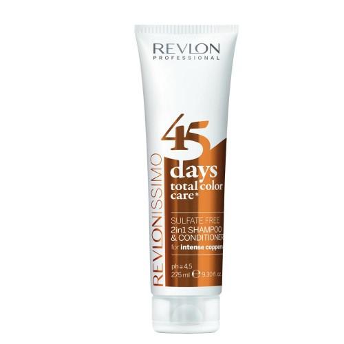 Revlon 45 Days Shampooing Conditionneur 2En1 Intense Cuivres 275Ml Femmes