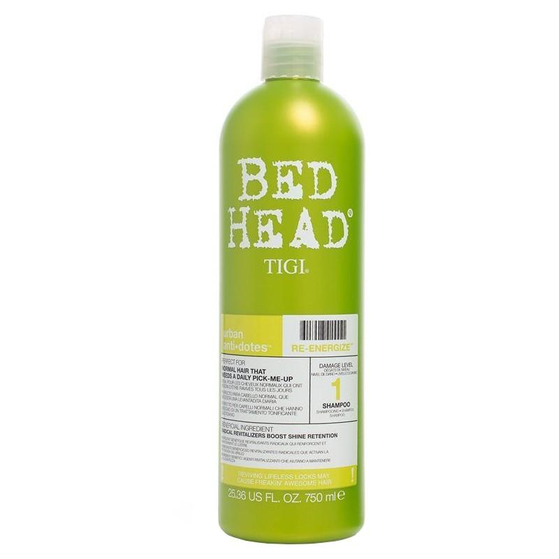 Bed Head TIGI Urban AntiDotes Re-Energize Shampooing 750ml