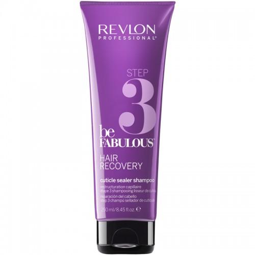 Revlon Be Fabulous Step 3 Cheveux Réparateur Cuticule Scellant Shampooing 250Ml Femmes