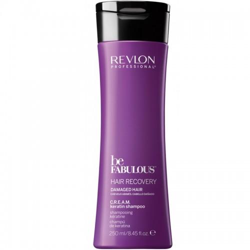 Revlon Be Fabulous Cheveux Régénérant C.R.E.A.M. Kératine Shampooing 250Ml Femmes