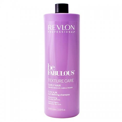 Revlon Be Fabulous Texture C.R.E.A.M. Cheveux Bouclés Définir Shampooing 1000Ml Femmes