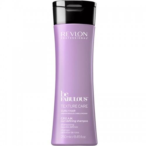 Revlon Be Fabulous Texture C.R.E.A.M. Cheveux Bouclés Définir Shampooing 250Ml Femmes