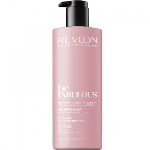 Revlon Be Fabulous Texture Care C.R.E.A.M. Lisse Shampooing 1000Ml Femmes