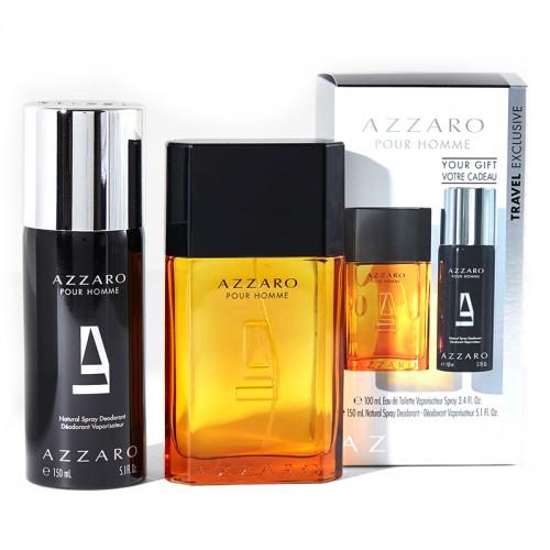 Coffret Azzaro Pour Homme Eau De Toilette 100ml Deodorant Spray 150ml Hommes
