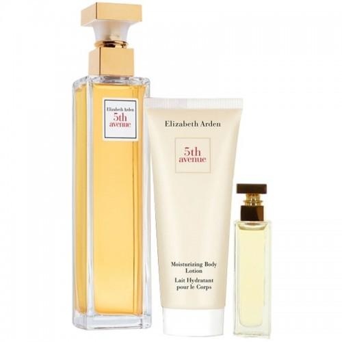 Coffret Elizabeth Arden 5Th Avenue Eau De Parfum 125Ml Lotion Pour Le Corp 100Ml Mini Parfum Femmes