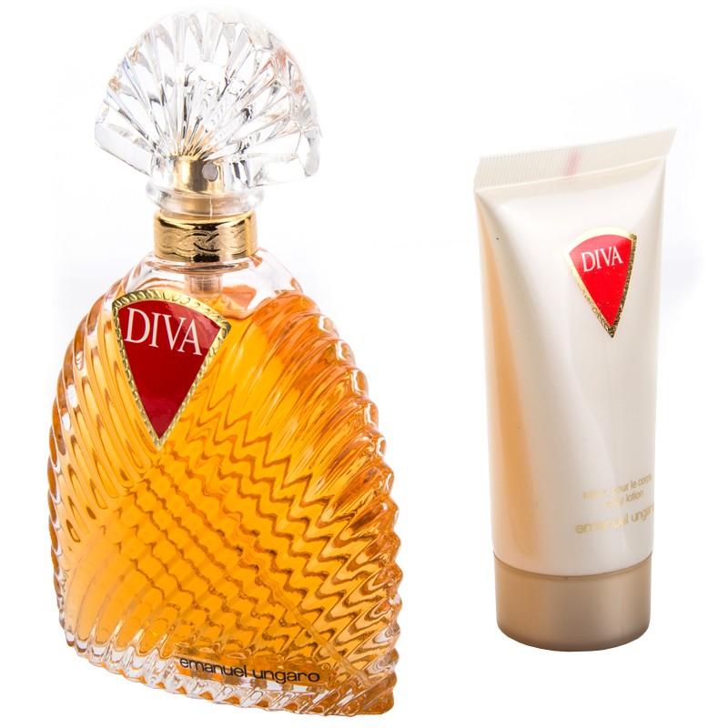 Coffret Emanuel Ungaro Diva Eau De Parfum 100ml Lotion Pour Le Corp