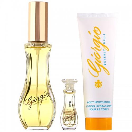 Coffret Giorgio Beverly Hills 50ml + 3,5ml Eau De Toilette + Lait Hydratant Femmes