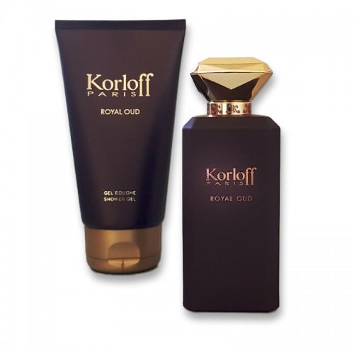 Coffret Korloff Royal Oud Eau De Parfum 88Ml + Gel Douche 150Ml Hommes