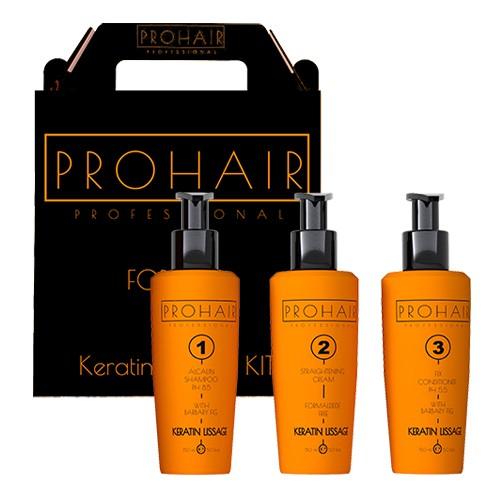 ProHair Profesionnal Kit de Lissage brésilien pour les cheveuxà la kératine Sans Formol
