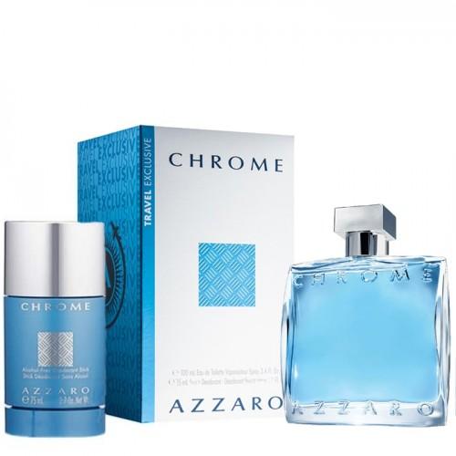 Coffret Azzaro Chrome Eau De Toilette 100ml Déodorant Stick 75ml